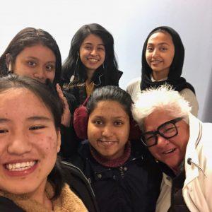 Group selfie after class