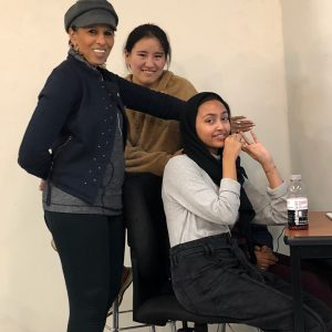 Samia, Kelsang, Nona sharing a joyful moment